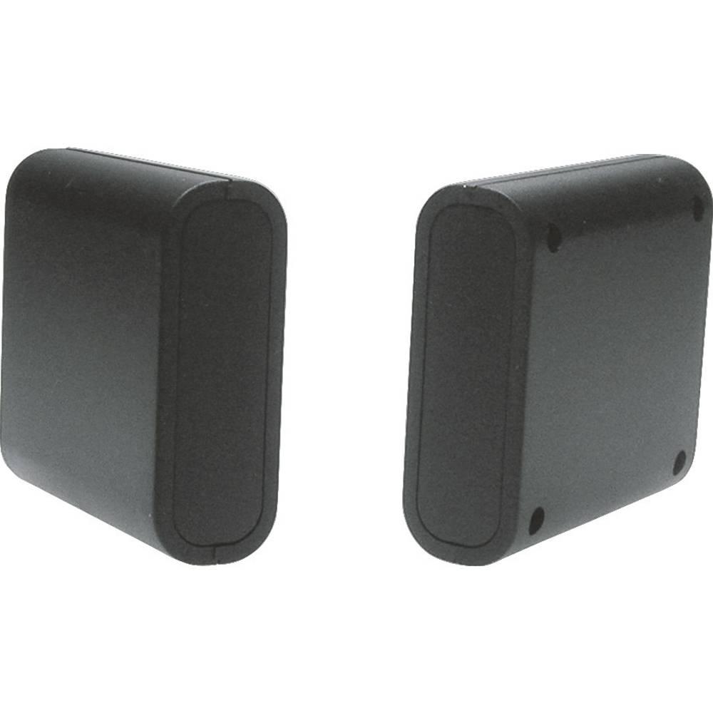 Strapubox 2412SW-Univerzalno kućište, ABS crno, 63x60x21mm