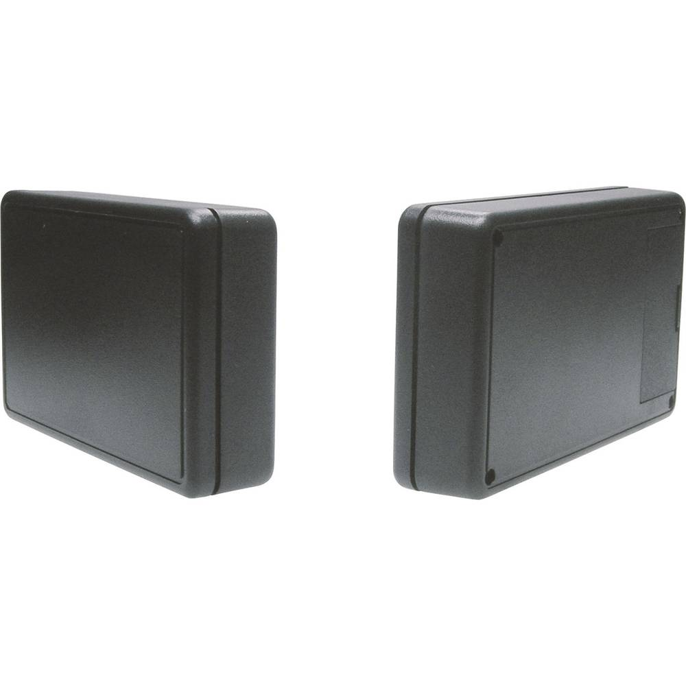 Universalkabinet 125 x 74 x 27 ABS Sort Strapubox 6006SW 1 stk