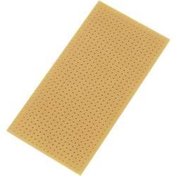 Plošča za tiskano vezje, brez bakrenega sloja, trdi papir (D x Š) 100 mm x 50 mm raster 2.54 mm TRU COMPONENTS SU528404 vsebina