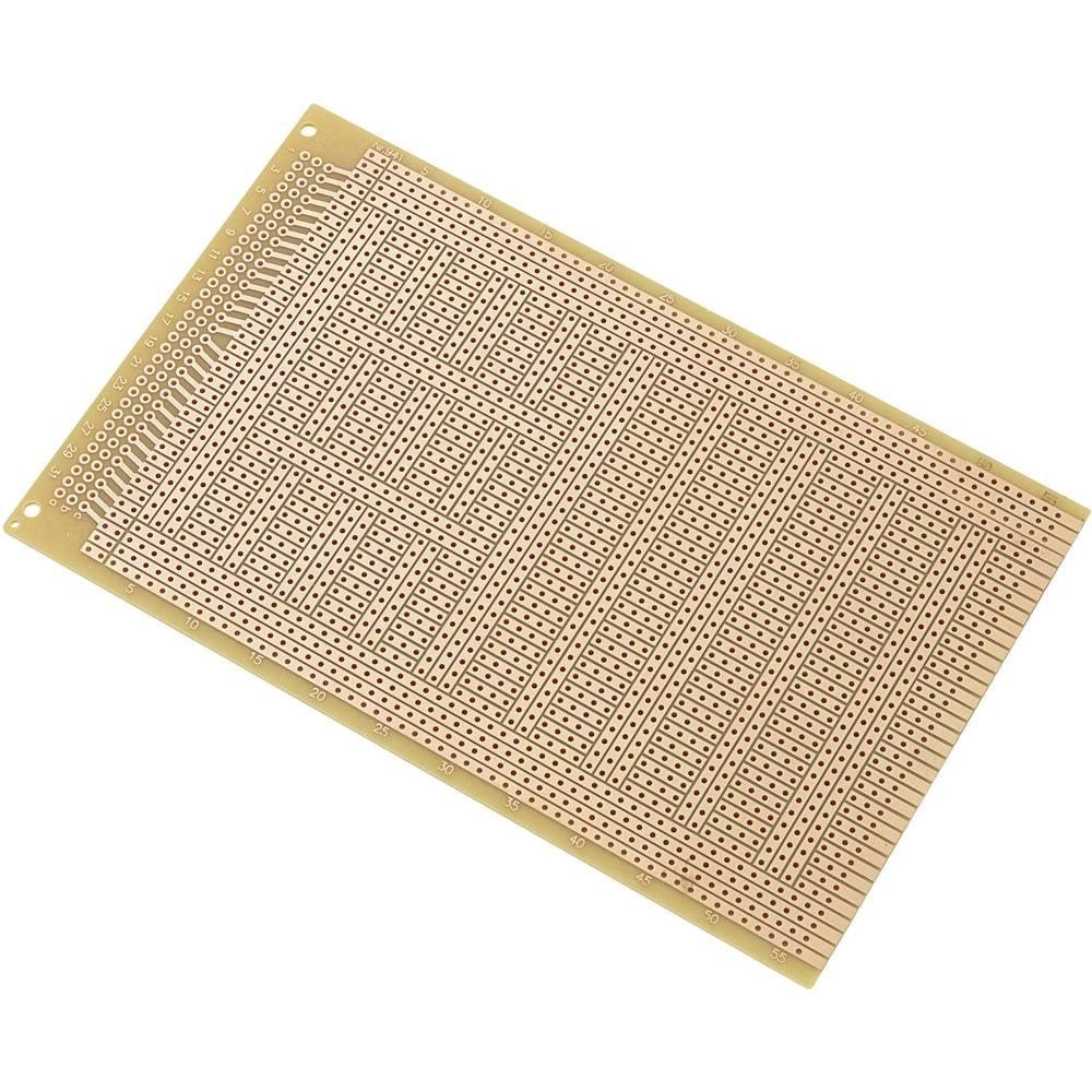 IC-printplade Hårdt papir (L x B) 160 mm x 100 mm 35 µm Rastermål 2.54 mm Conrad Components SU527823 Indhold 1 stk