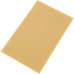 Europlatine (value.1292428) uden Cu-belægning Hårdt papir (L x B) 160 mm x 100 mm Rastermål 2.54 mm Conrad Components SU528455 I