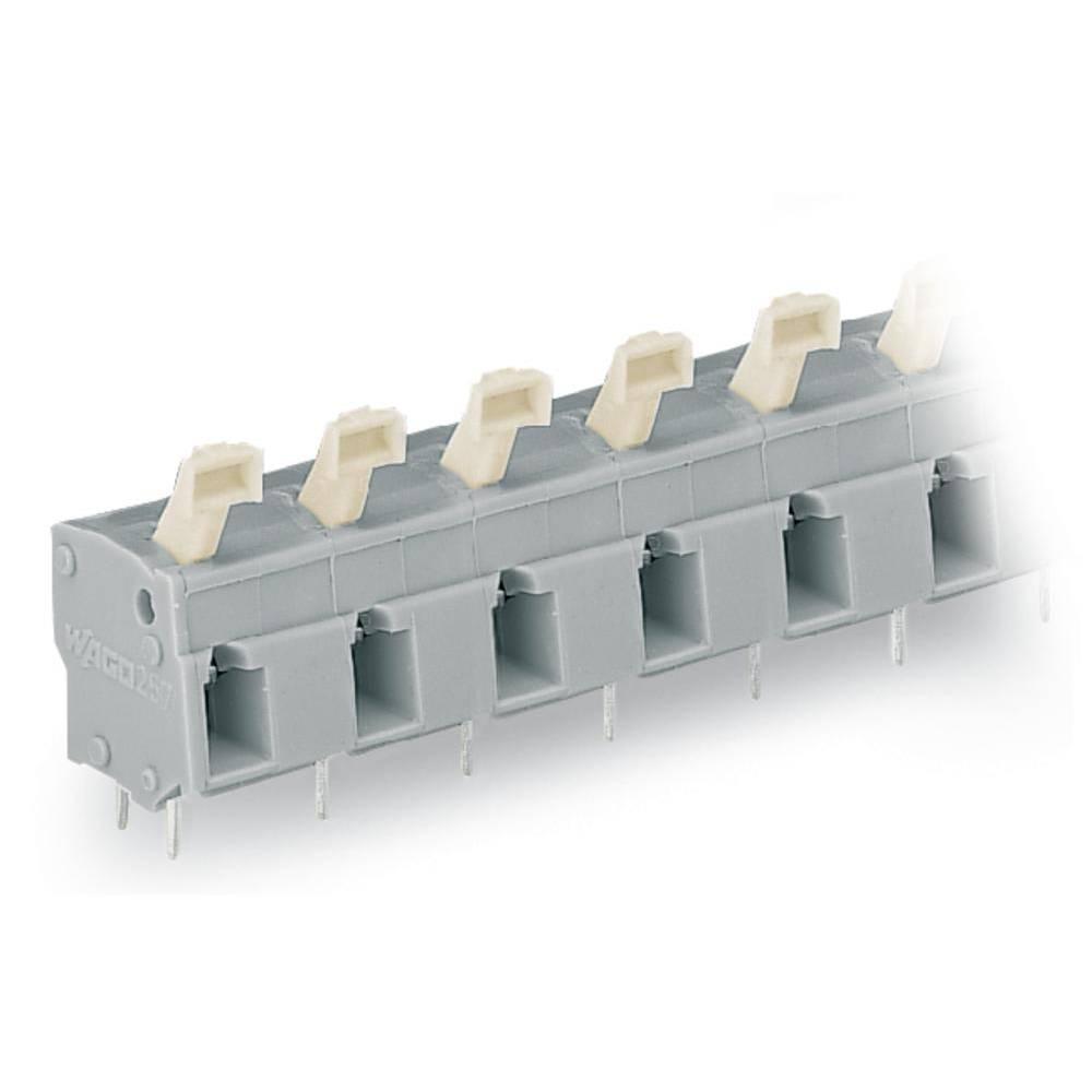 Fjederkraftsklemmeblok WAGO 2.50 mm² Poltal 7 Lysegrå 60 stk