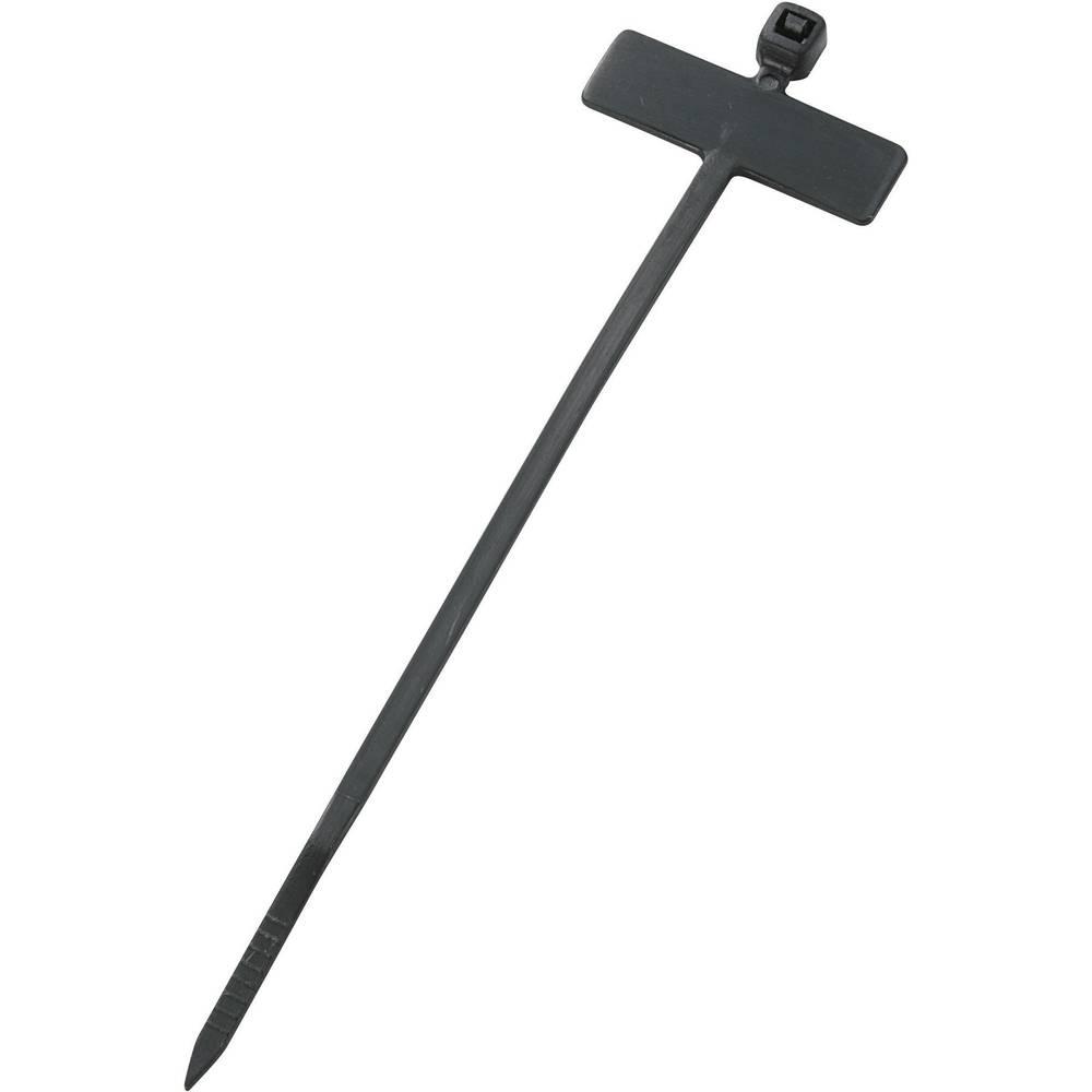 Označevalnik za kable, površina: 20 x 13 mm črne barve 532060 1 kos