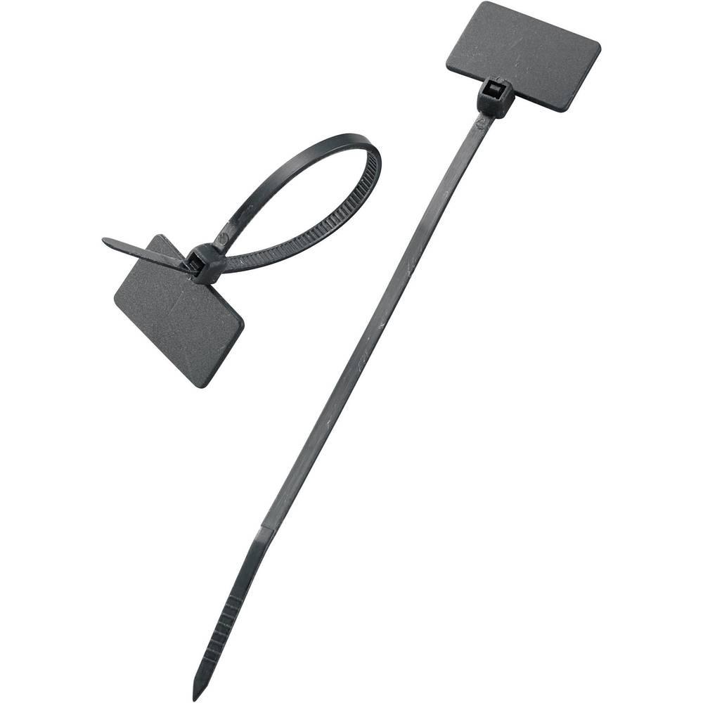 Označevalnik za kable, površina: 20 x 13 mm črne barve 532072 100 kos