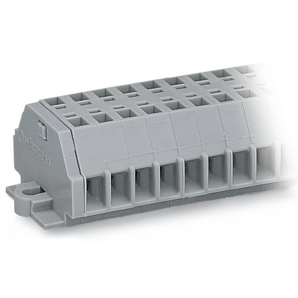 Klemmerække 5 mm Trækfjeder Belægning: L Grå WAGO 260-154 100 stk