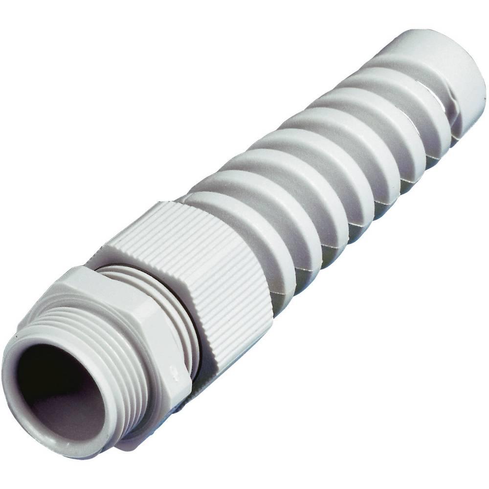 Kabelska uvodnica z zaščito pred potegom in upogibanjem PG21 poliamid črne barve Wiska SKVS PG 21 RAL 9005 1 kos