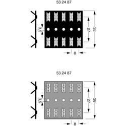 Dvoredni lemni trak Broj polova Ukupno 10 Kraft papir (D x W) 500 mm x 38 mm 1 kom