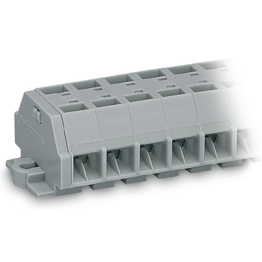 Klemmerække 8 mm Trækfjeder Belægning: L Grå WAGO 260-208 50 stk