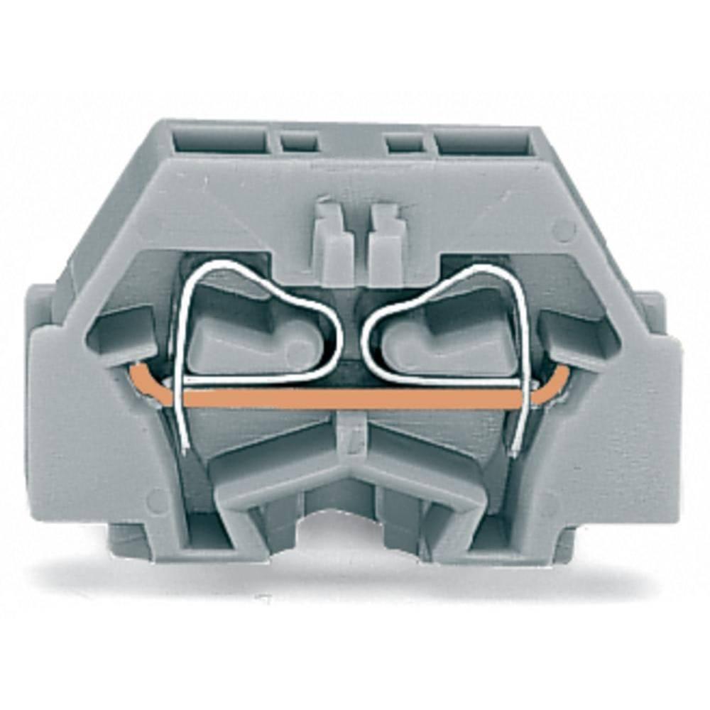 Enkelt klemme 5 mm Trækfjeder Belægning: N Blå WAGO 260-324 300 stk