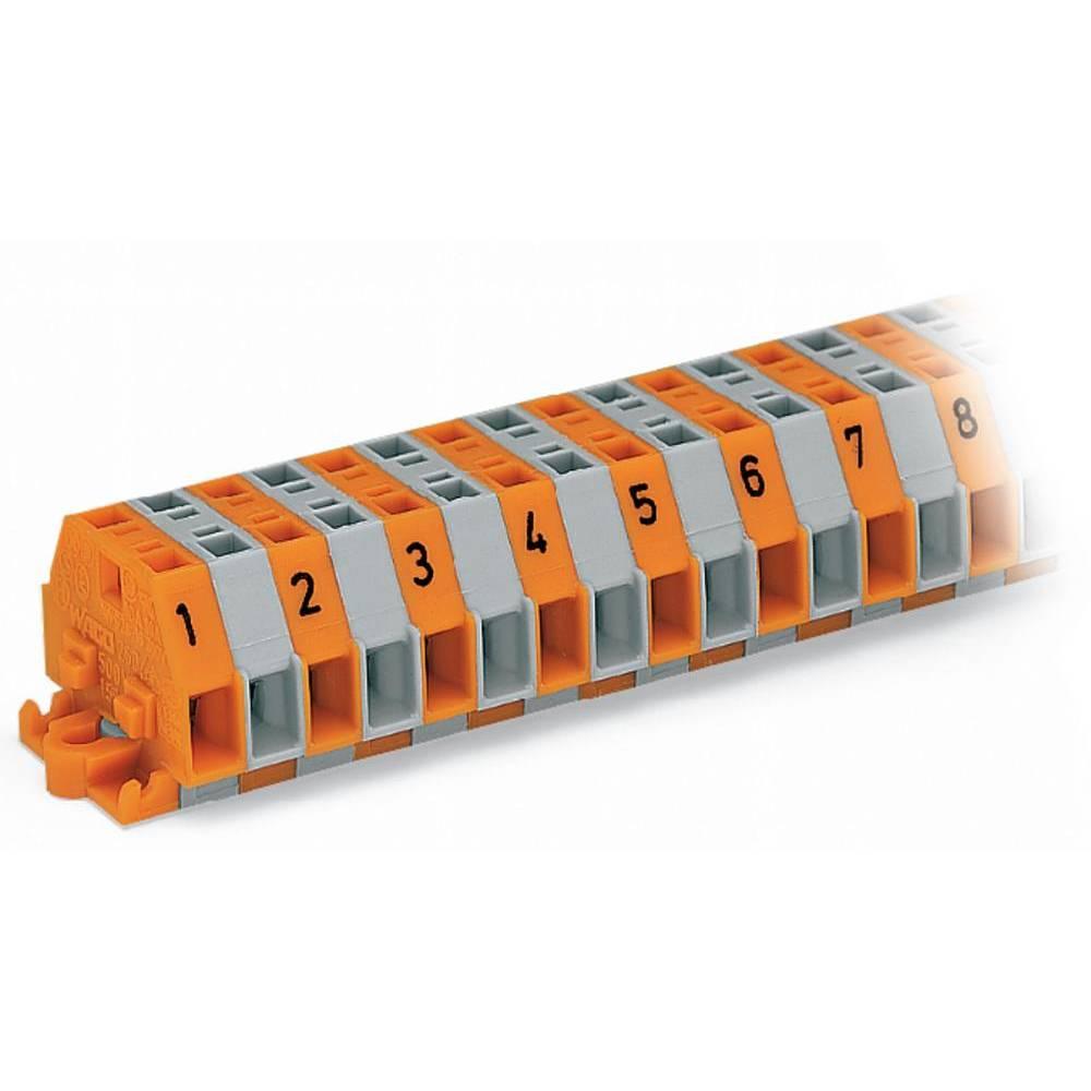 Klemmerække 5.50 mm Trækfjeder Belægning: L Grå WAGO 260-420 25 stk