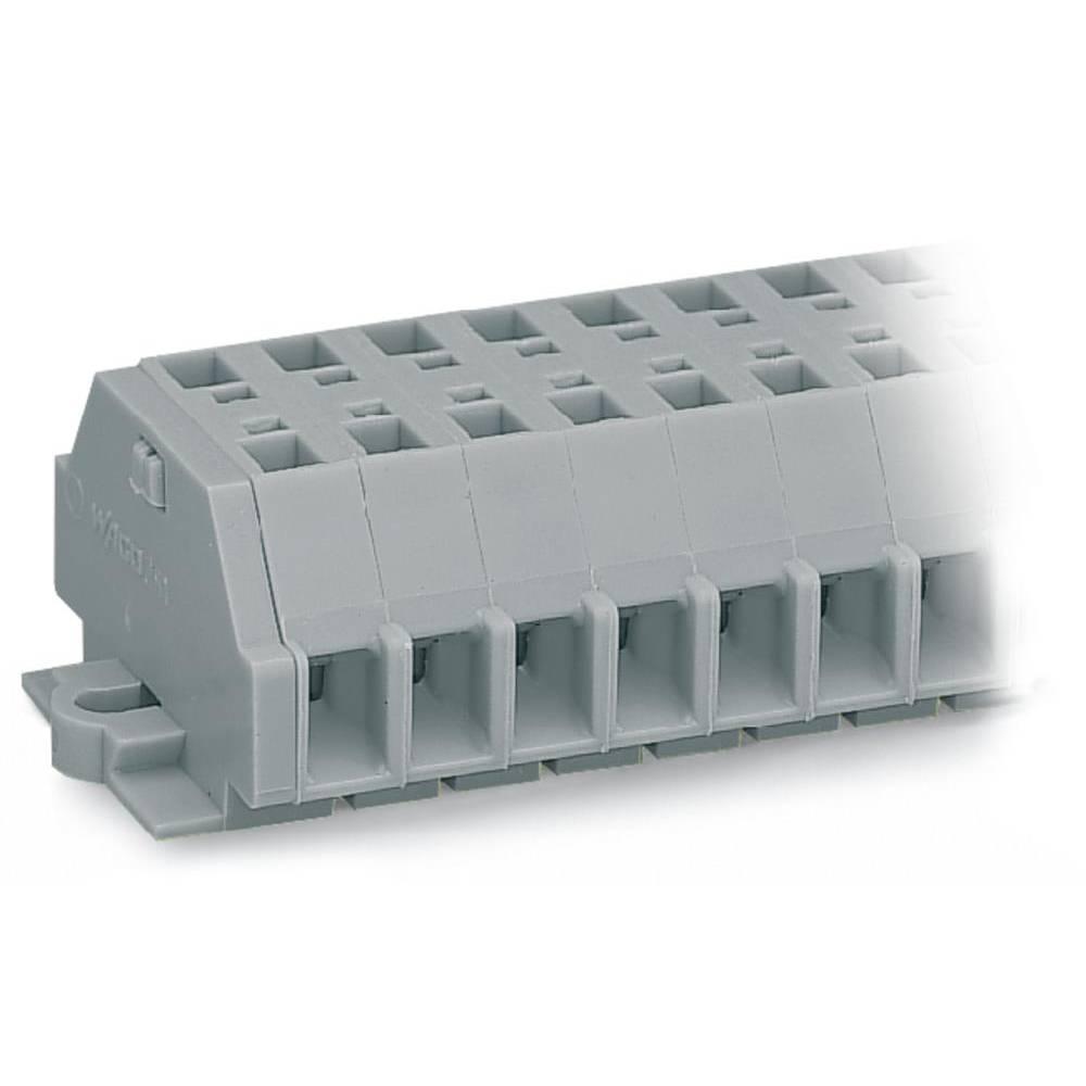 Klemmerække 6 mm Trækfjeder Belægning: L Grå WAGO 261-161 25 stk
