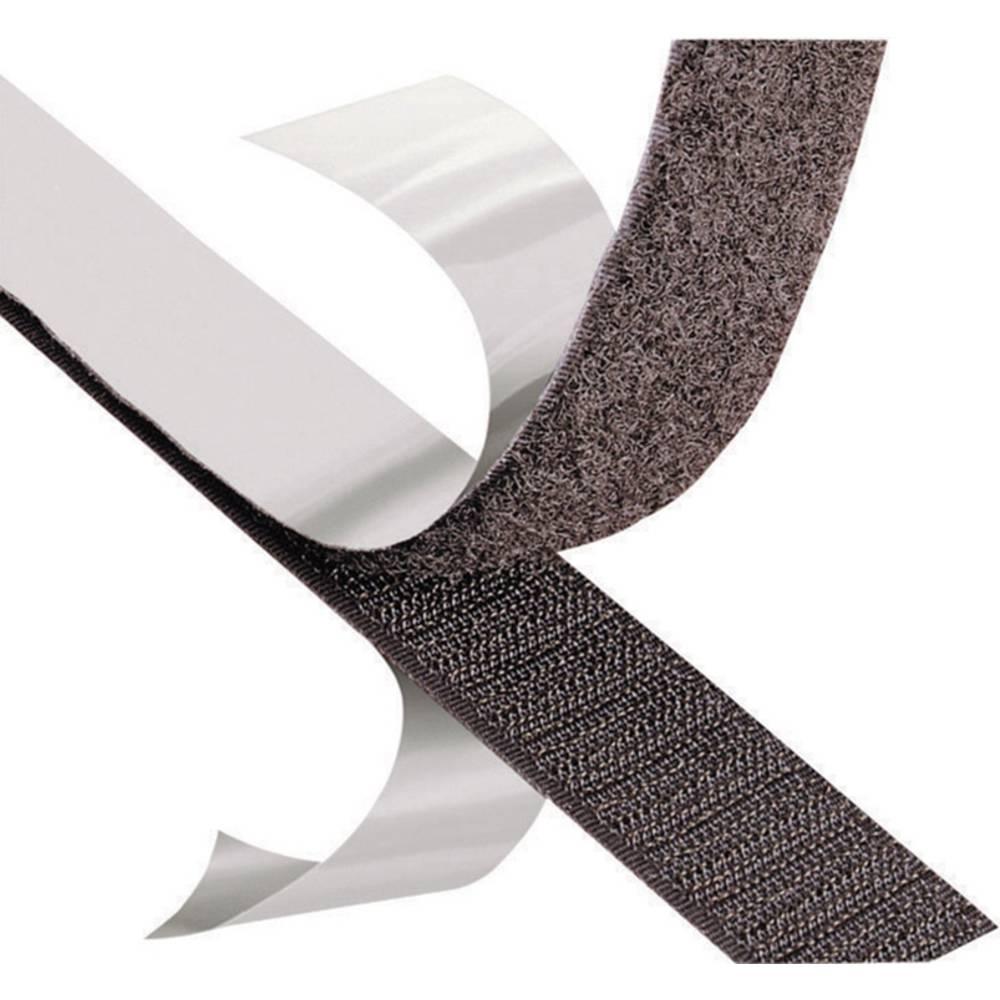 Čičak traka 3M Scotchmate SJ 3526N, roba na metar, širina: 25 mm, crne boje