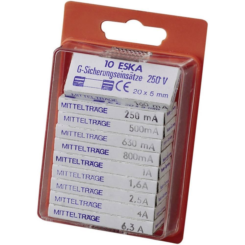 ESKA Sortiment varovalk 5 x 20 mm srednje počasne -sP- vsebina: 100 kosov 121.800