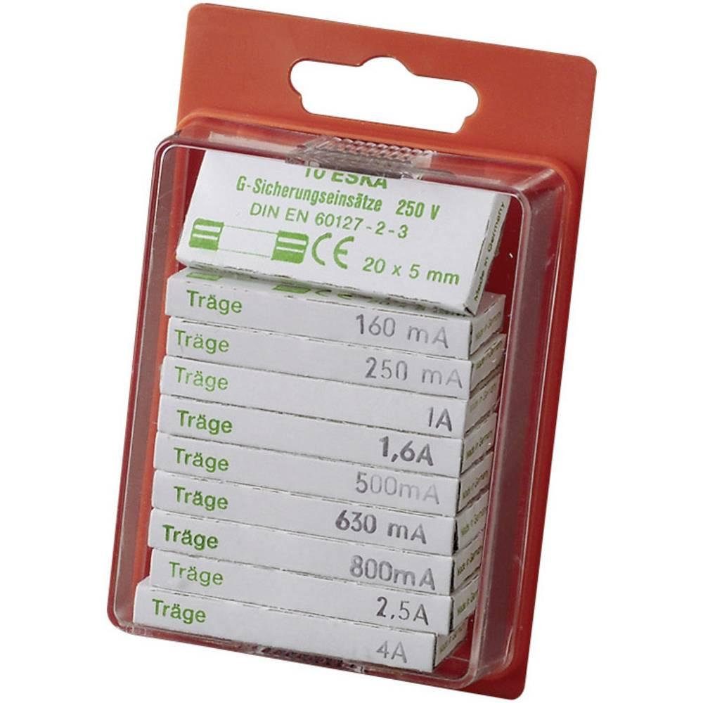 ESKA Sortiment varovalk 5 x 20 mm počasne -P- vsebina: 100 kosov 122.800