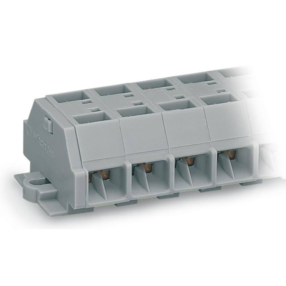 Klemmerække 10 mm Trækfjeder Belægning: L Grå WAGO 261-208 50 stk