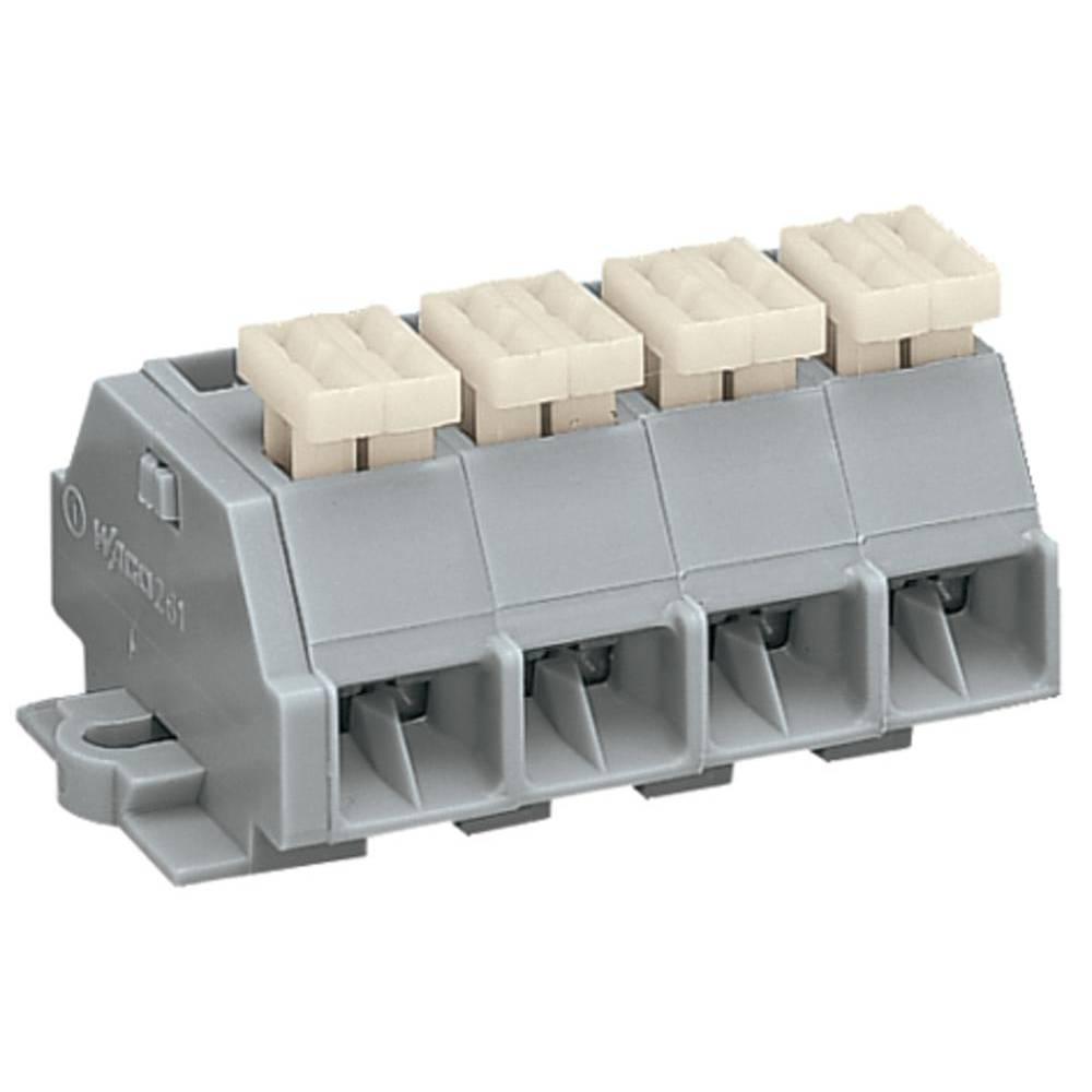 Klemmerække 10 mm Trækfjeder Belægning: L Grå WAGO 261-204/332-000 100 stk