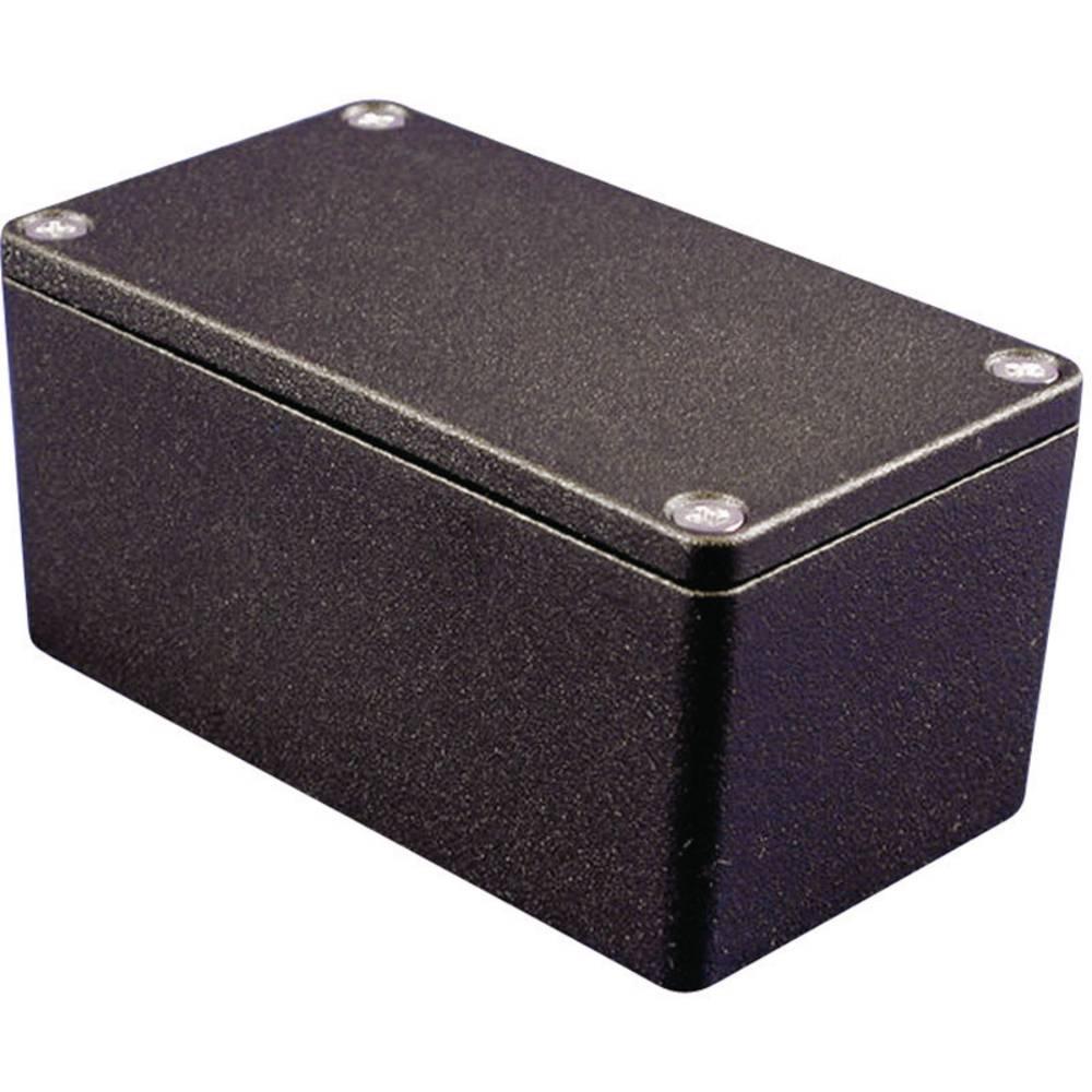 Universalkabinet 120.5 x 120.5 x 100.5 Aluminium Sort Hammond Electronics 1550Z137BK 1 stk
