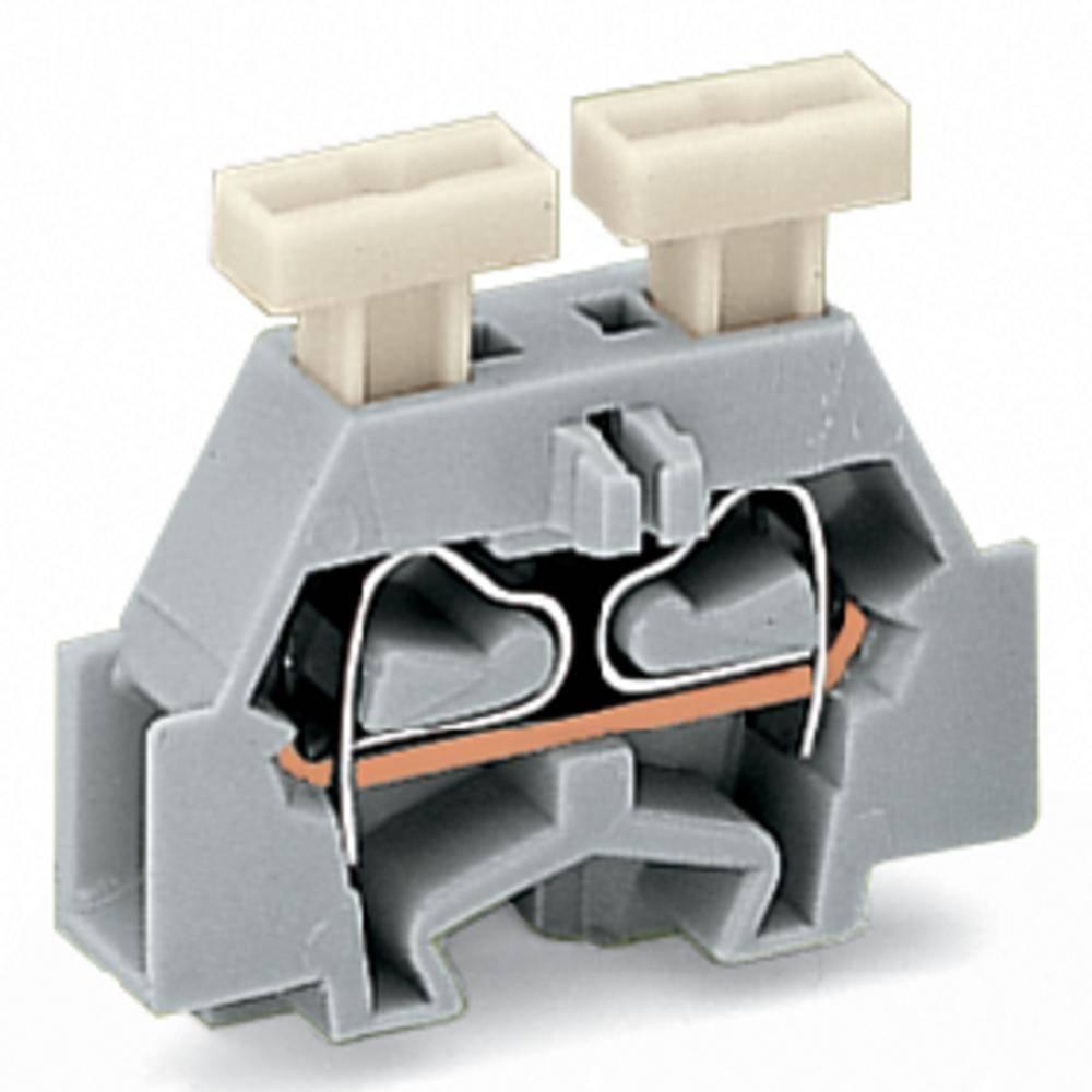 Enkelt klemme 6 mm Trækfjeder Belægning: L Grå WAGO 261-321/341-000 200 stk