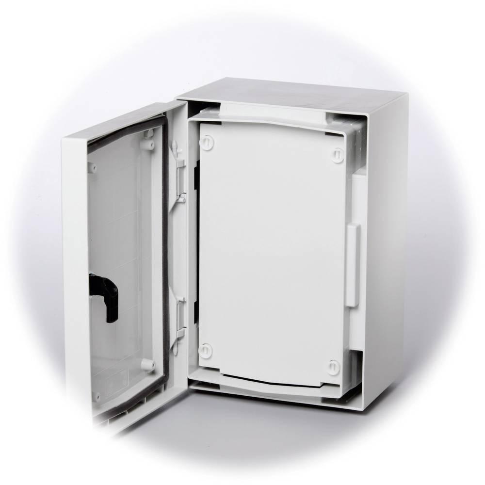 Frontplade Fibox FP 3020-D lukket (L x B) 279 mm x 162 mm Plast Grå (RAL 7035) 1 stk