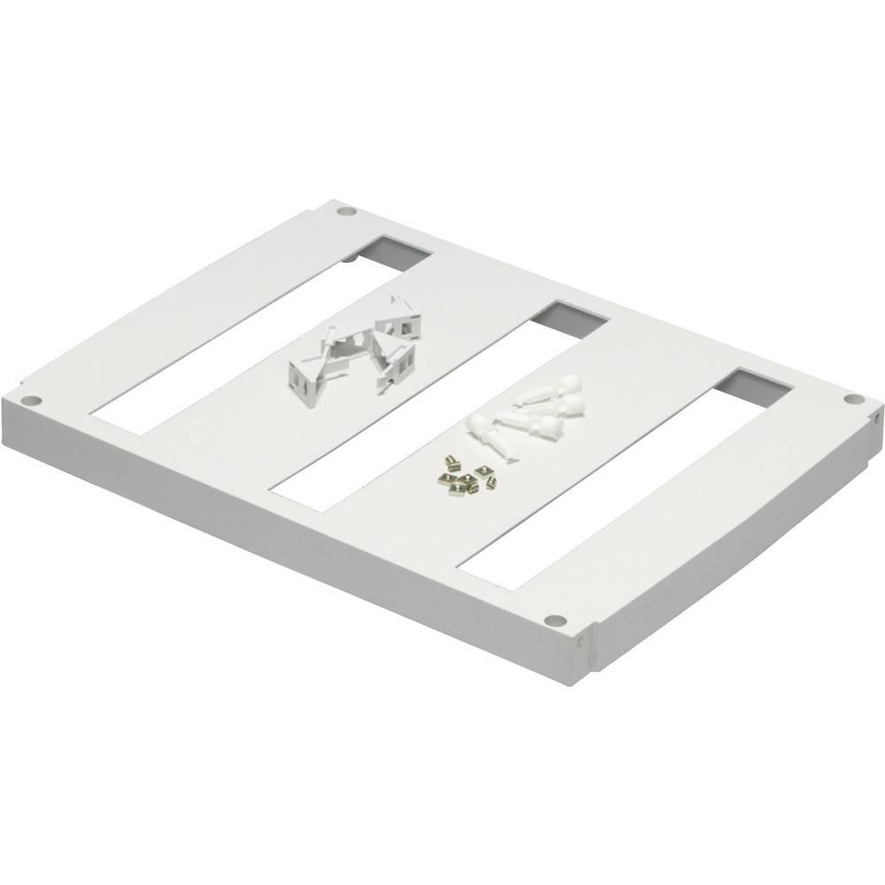 Fibox-Prednja ploča FP 5040-3x18, umjetna masa, sa otvorima, 479x362mm, siva (RAL 7035) 8265040