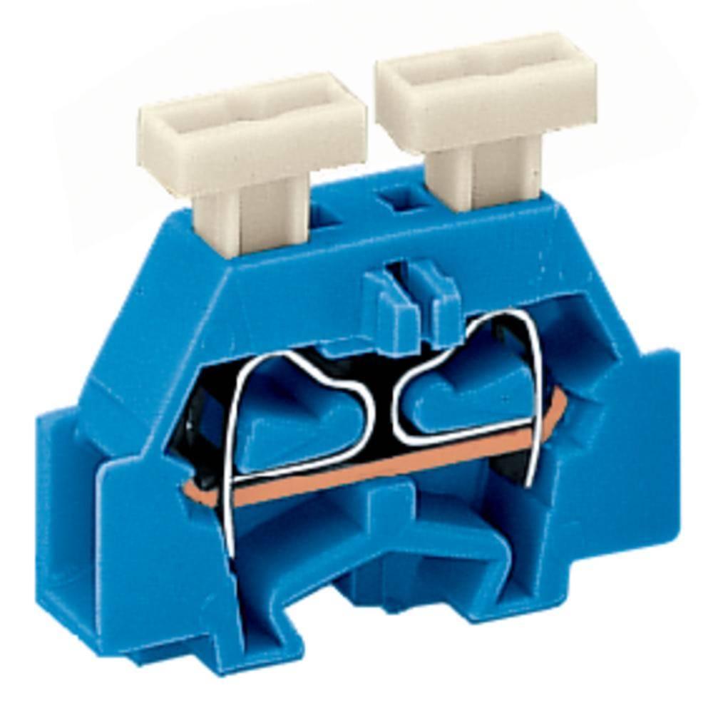Enkelt klemme 6 mm Trækfjeder Belægning: N Blå WAGO 261-304/341-000 200 stk