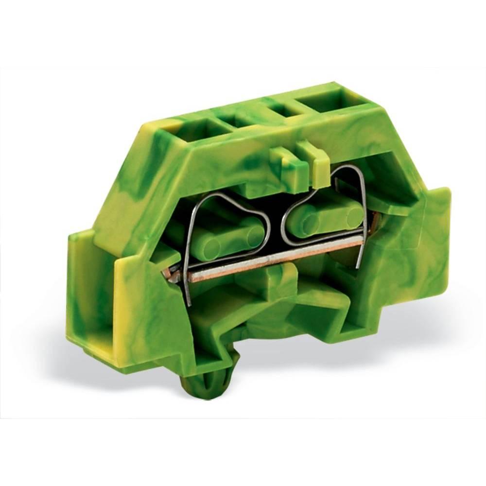 Enkelt klemme 6 mm Trækfjeder Belægning: Terre Grøn-gul WAGO 261-317 200 stk