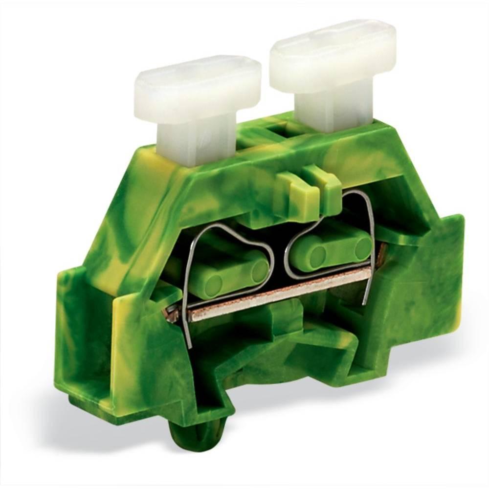 Enkelt klemme 6 mm Trækfjeder Belægning: Terre Grøn-gul WAGO 261-317/341-000 200 stk