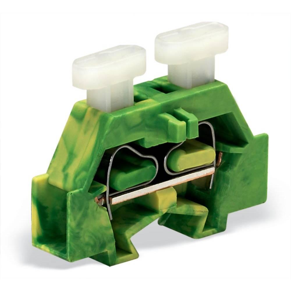 Enkelt klemme 6 mm Trækfjeder Belægning: Terre Grøn-gul WAGO 261-327/341-000 200 stk
