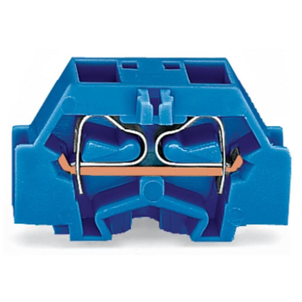 Enkelt klemme 10 mm Trækfjeder Belægning: N Blå WAGO 261-334 200 stk