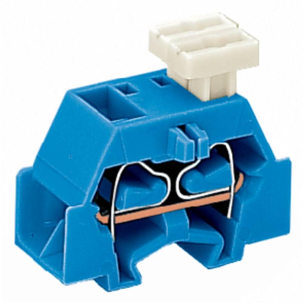 Enkelt klemme 10 mm Trækfjeder Belægning: N Blå WAGO 261-334/332-000 200 stk