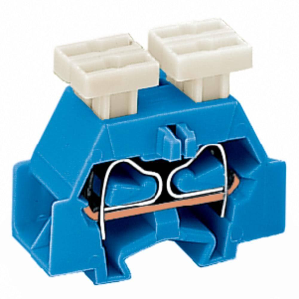 Enkelt klemme 10 mm Trækfjeder Belægning: N Blå WAGO 261-334/342-000 200 stk