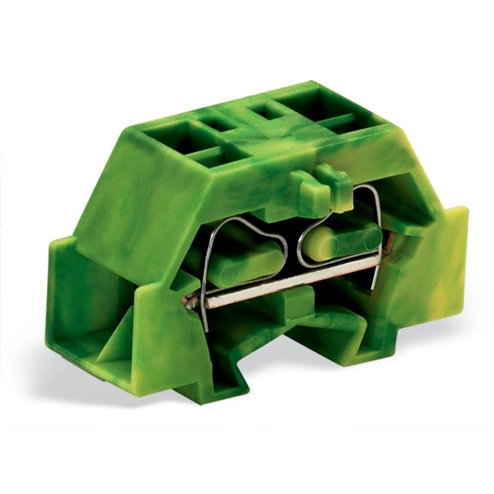 Enkelt klemme 10 mm Trækfjeder Belægning: Terre Grøn-gul WAGO 261-337 200 stk