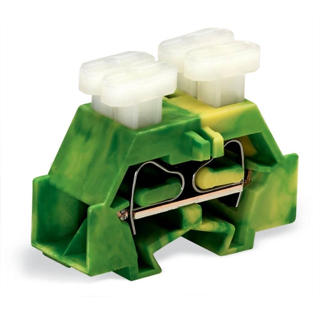Enkelt klemme 10 mm Trækfjeder Belægning: Terre Grøn-gul WAGO 261-337/342-000 200 stk