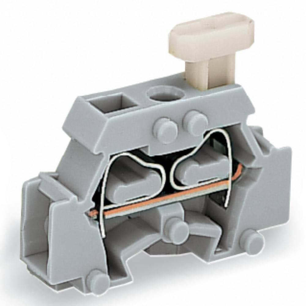 Enkelt klemme 6 mm Trækfjeder Belægning: L Grå WAGO 261-411/331-000 200 stk