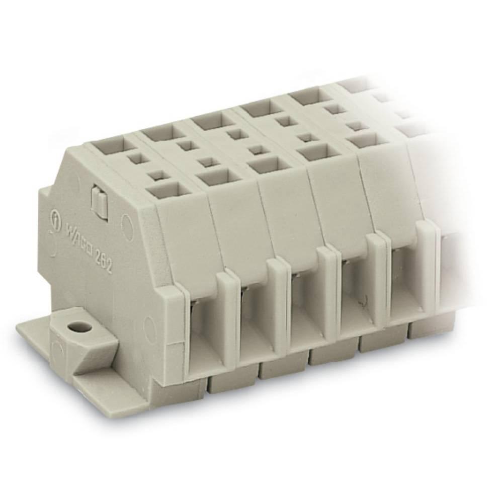 Klemmerække 5 mm Trækfjeder Belægning: L Grå WAGO 262-138 50 stk