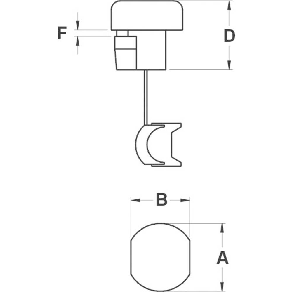 Zaštita ppotegom, promjer sponke (maks.) 8.2 mm, poliamid crne boje KSS SRR6P1 1 kom