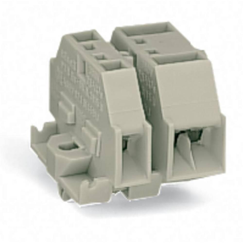 Enkelt klemme 12 mm Trækfjeder Belægning: L Grå WAGO 262-280 100 stk