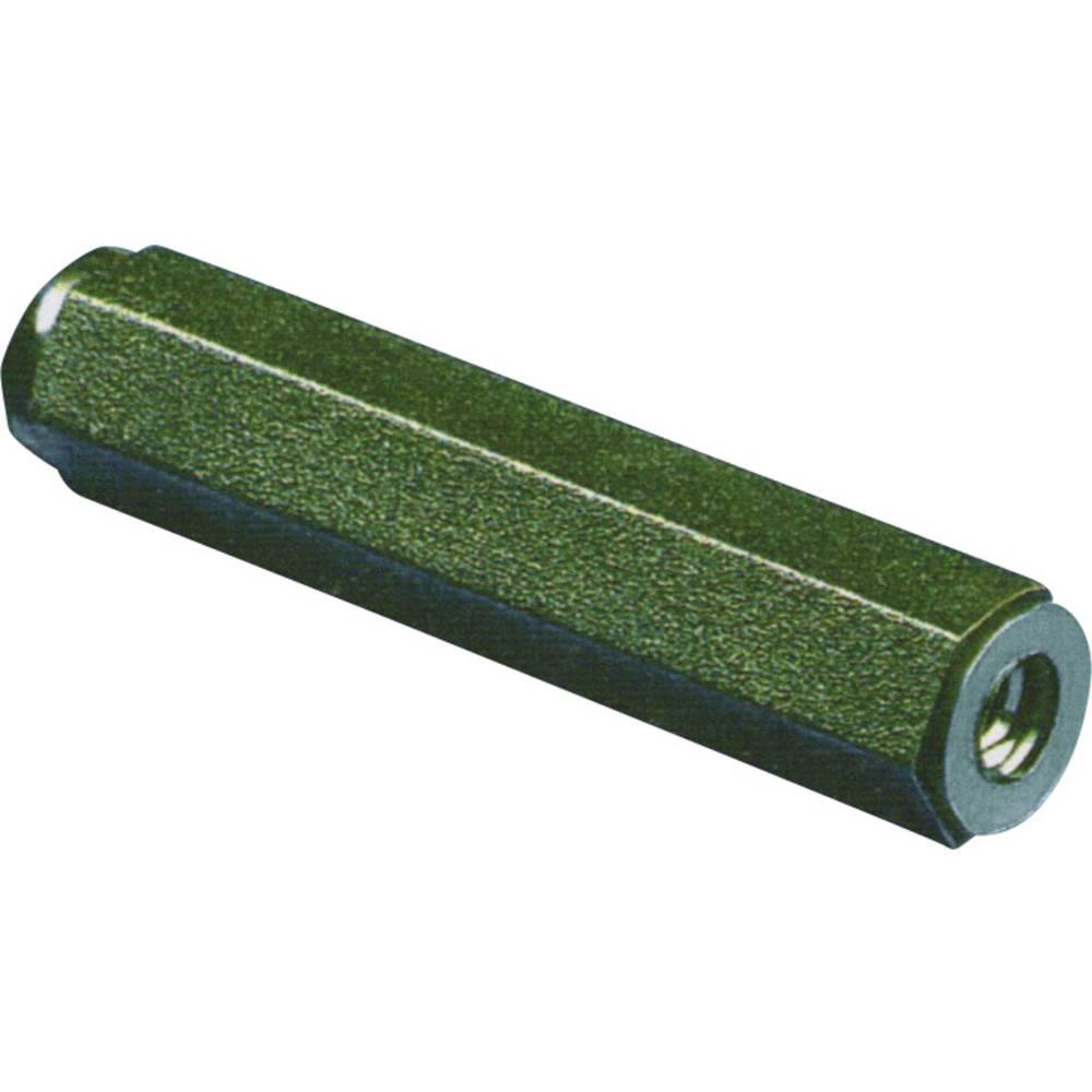 Plastični sornik 2 x notranjinavoj M4 15 mm