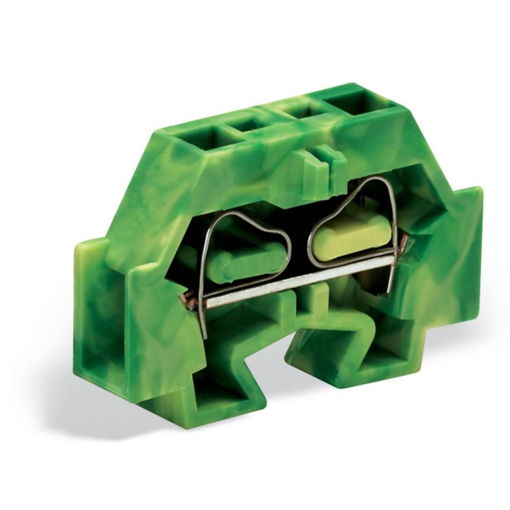 Enkelt klemme 7 mm Trækfjeder Belægning: Terre Grøn-gul WAGO 262-327 100 stk