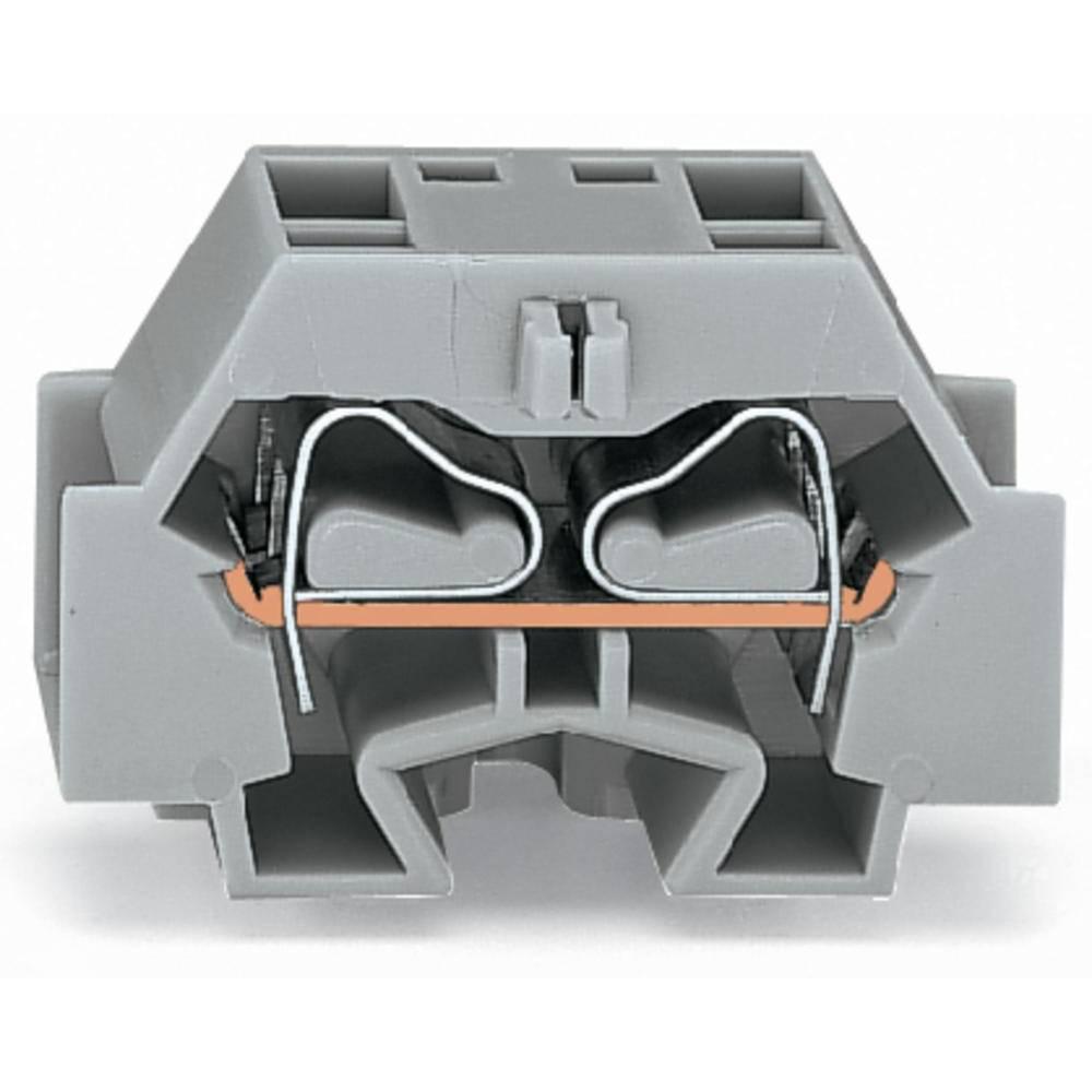 Enkelt klemme 12 mm Trækfjeder Belægning: N Blå WAGO 262-344 100 stk