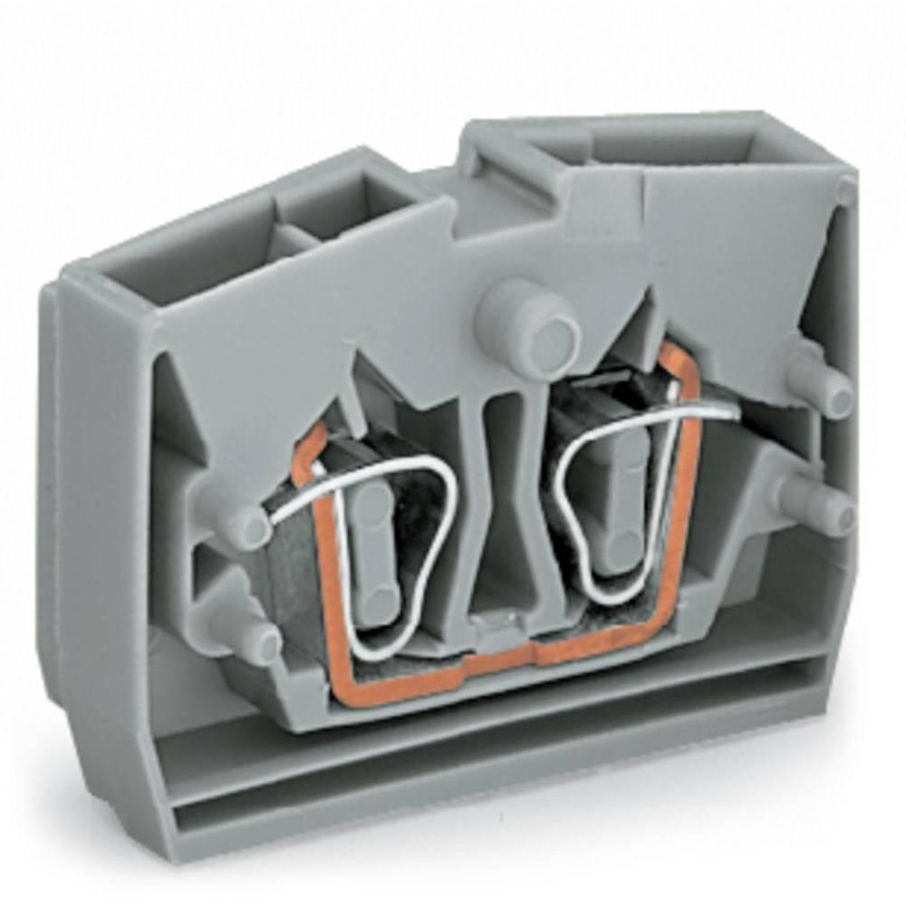 Enkelt klemme 6 mm Trækfjeder Orange WAGO 264-306 100 stk
