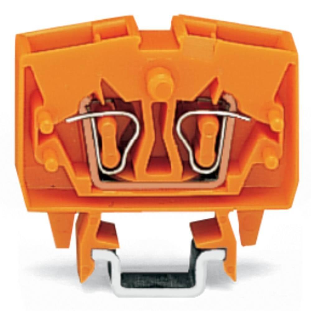 Gennemgangsklemme 6 mm Trækfjeder Orange WAGO 264-706 100 stk