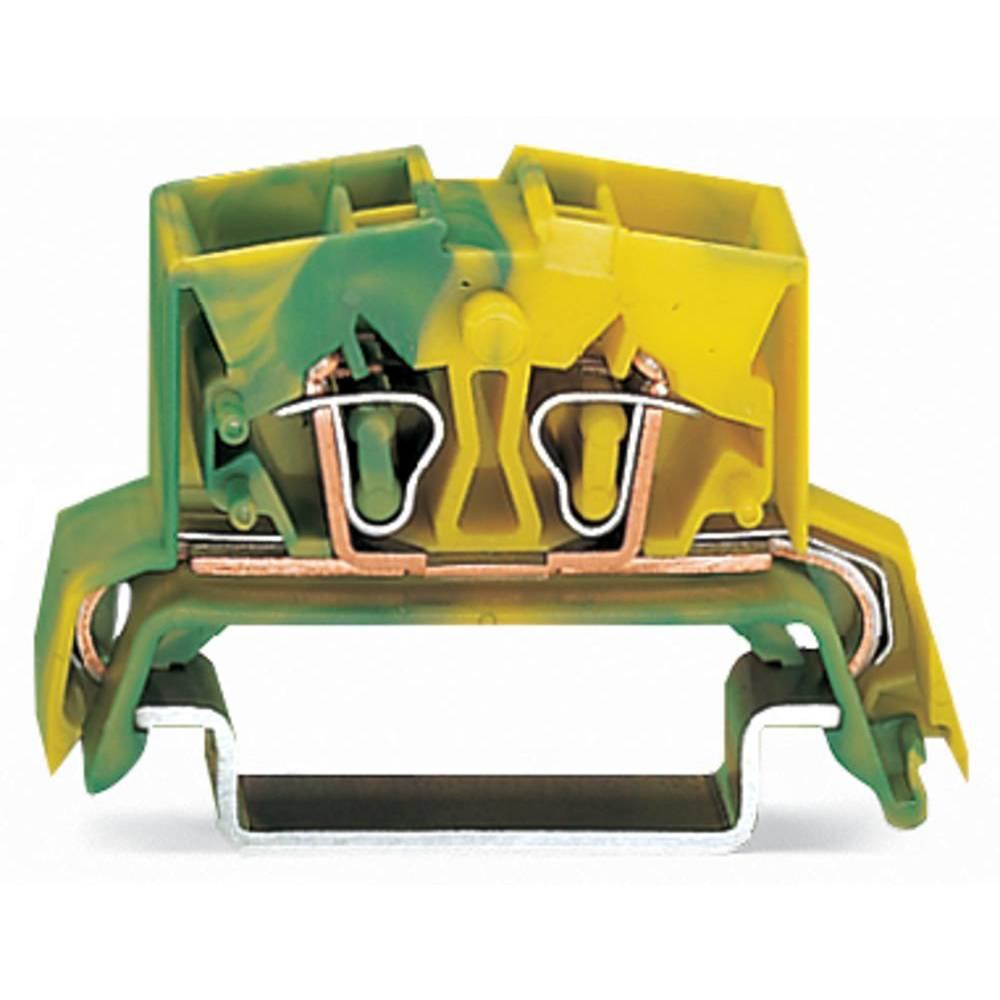 Jordklemme 10 mm Trækfjeder Belægning: Terre Grøn-gul WAGO 264-737/999-950 100 stk