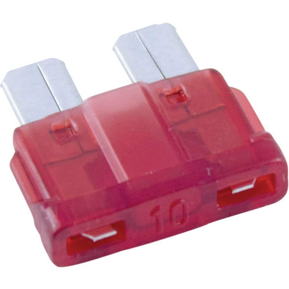Conrad-Standardni pljosnati osigurač, automobilski/industrijski, crven, utični, 32V, 10A