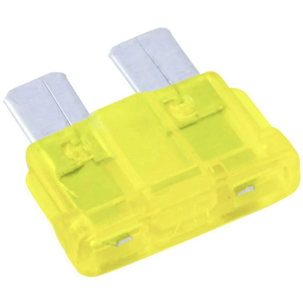 Avtomobilska standardna ploščata varovalka Conrad za avto/industrijo, rumena, vtična, 32V, 20A