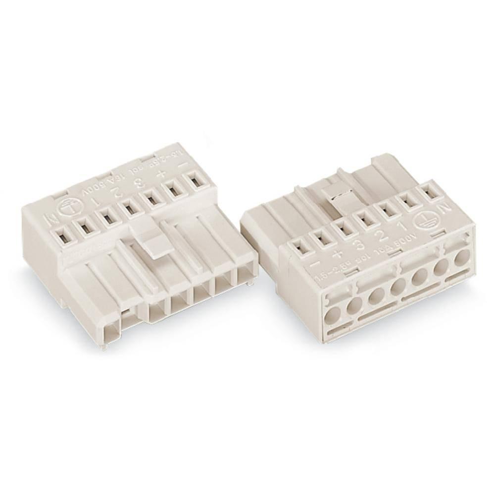 Povezovalni vtič, tog: 1.5-2.5 mm št. polov: 7 WAGO 267-501 50 kos bela