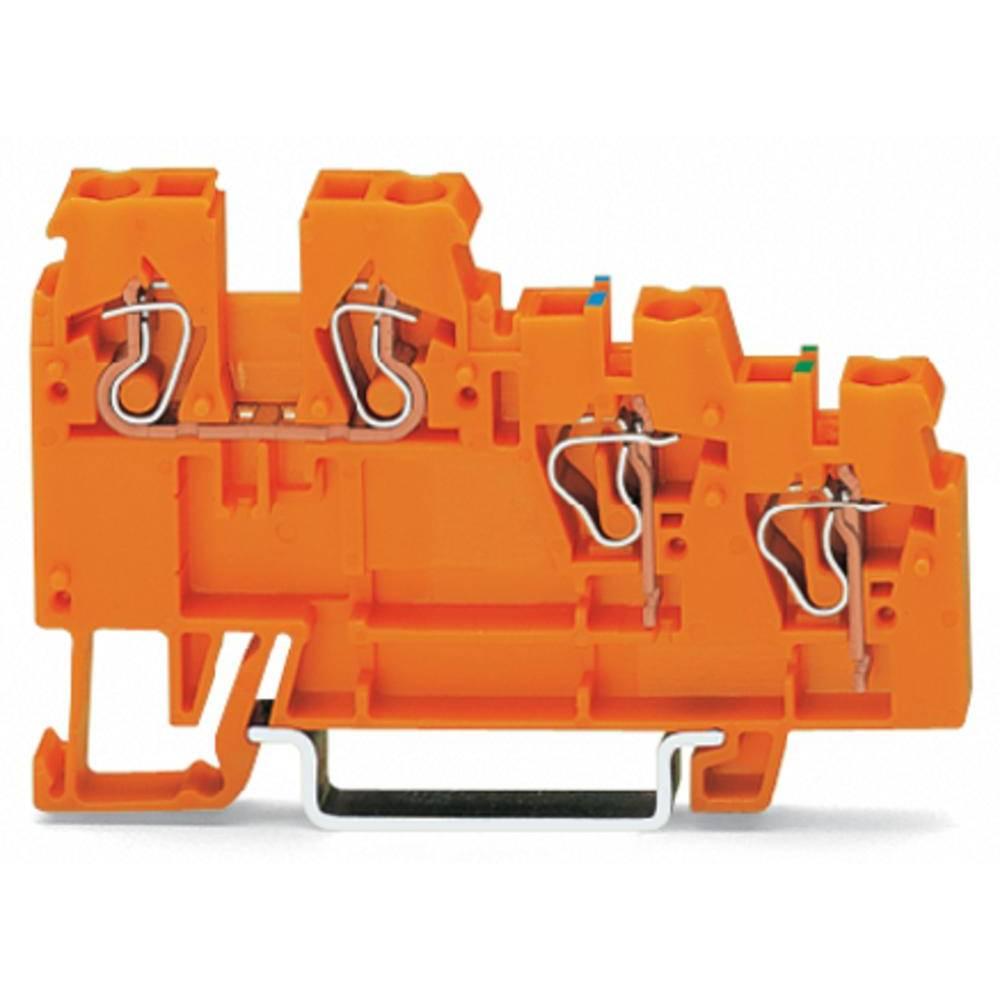 Aktorklemme 5 mm Trækfjeder Orange WAGO 270-577 10 stk