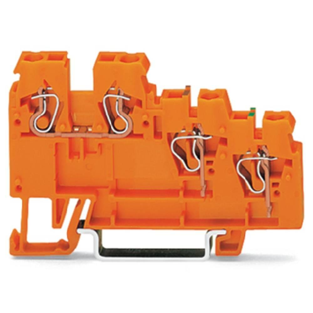 Aktorklemme 5 mm Trækfjeder Orange WAGO 270-586 10 stk