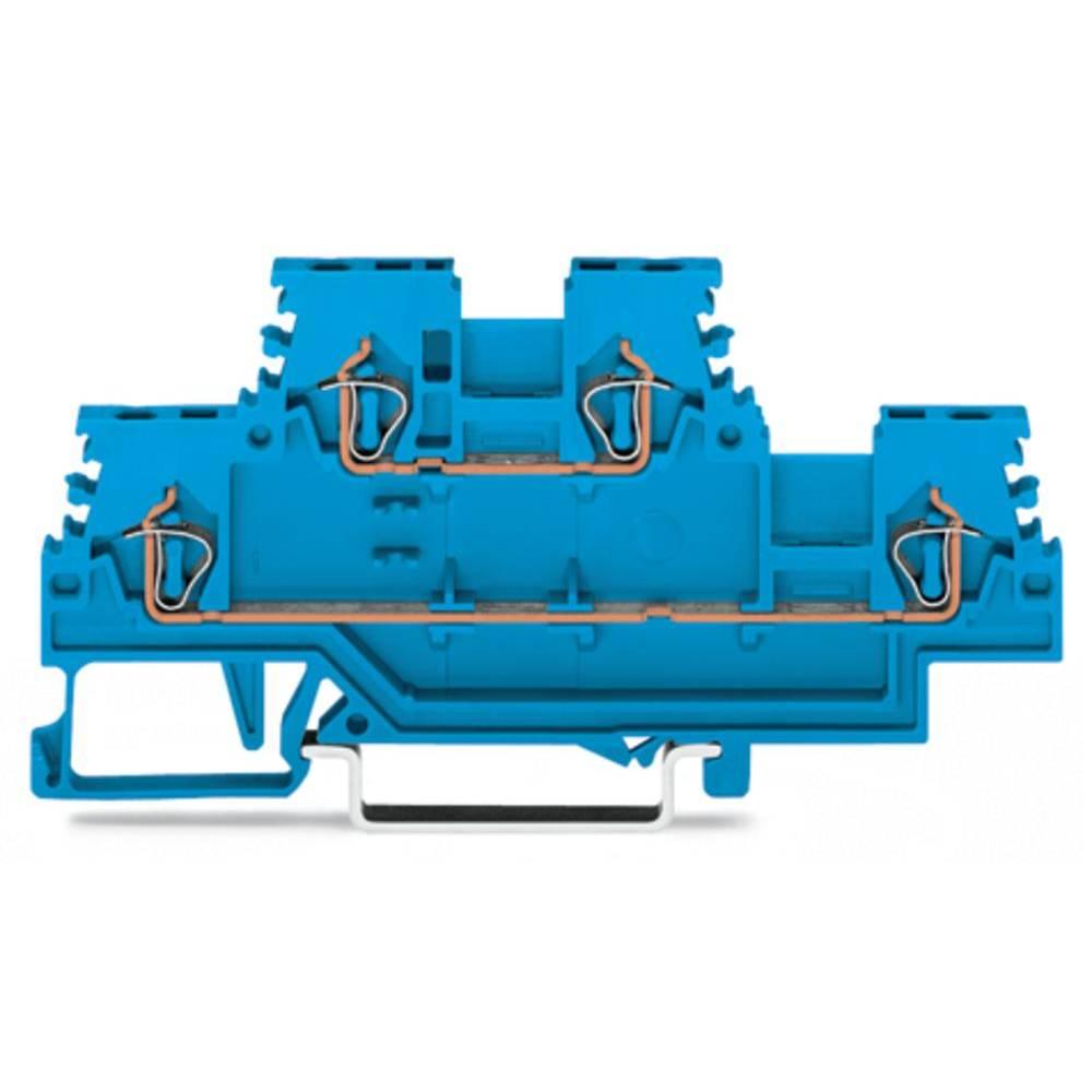 Dobbeltlags-gennemgangsklemme 4 mm Trækfjeder Belægning: N, N Blå WAGO 279-504 50 stk
