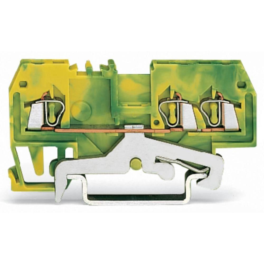 Jordklemme 4 mm Trækfjeder Belægning: Terre Grøn-gul WAGO 279-687/999-950 100 stk